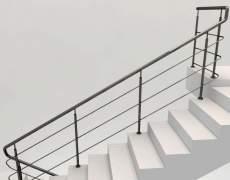 Поворот ограждений на лестнице