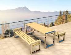Комплект стол и скамейки
